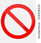 not allowed sign | Shutterstock .eps vector #216528310