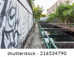 Small photo of Allay way beside water canal in old town