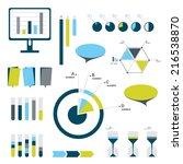 flat infographic set of charts  ...