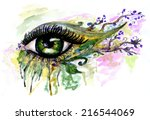 abstractive illustration of an... | Shutterstock . vector #216544069