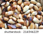 very tasty roasted almonds with ... | Shutterstock . vector #216546229