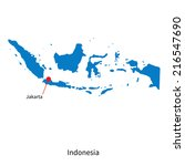 detailed map of indonesia and... | Shutterstock . vector #216547690