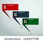 colorful modern text box...   Shutterstock .eps vector #216547708