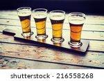 beer flight | Shutterstock . vector #216558268