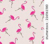 vector seamless pattern with... | Shutterstock .eps vector #216561580