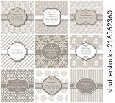 elegant frame on pattern set in ... | Shutterstock .eps vector #216562360