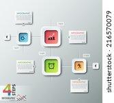 modern infographic process... | Shutterstock .eps vector #216570079
