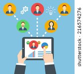 project management concept.... | Shutterstock .eps vector #216574276