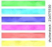 colored banner background set   ... | Shutterstock .eps vector #216575530