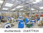 view of machinery in factory... | Shutterstock . vector #216577414