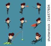 businessman character flat... | Shutterstock .eps vector #216577834