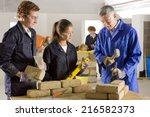 teacher teaching students... | Shutterstock . vector #216582373