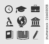 set of symbols education | Shutterstock .eps vector #216603058