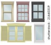 five window vector illustrations | Shutterstock .eps vector #21660319