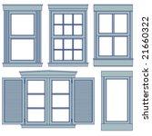 five window blueprint vector...   Shutterstock .eps vector #21660322