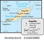 anguilla territory map | Shutterstock .eps vector #216603880