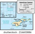 american samoa territory map | Shutterstock .eps vector #216603886
