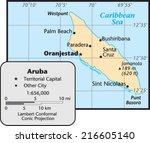 aruba territory map | Shutterstock .eps vector #216605140