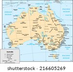 australia country map | Shutterstock .eps vector #216605269