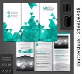 white vector brochure template... | Shutterstock .eps vector #216606418