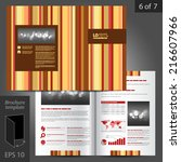 brown vector brochure template... | Shutterstock .eps vector #216607966