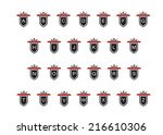 logo. the english alphabet in a ... | Shutterstock .eps vector #216610306