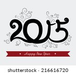 new year design over white... | Shutterstock .eps vector #216616720