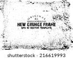 design template.abstract grunge ...   Shutterstock .eps vector #216619993