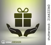 pictograph of gift | Shutterstock .eps vector #216622360