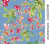 floral seamless pattern with... | Shutterstock . vector #216625348