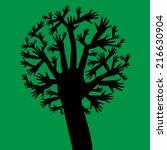 hands tree | Shutterstock .eps vector #216630904