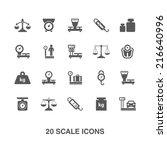 scale icons set. | Shutterstock .eps vector #216640996