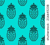 seamless pattern with... | Shutterstock .eps vector #216645238