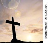 concept conceptual black cross... | Shutterstock . vector #216655804
