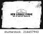 design template.abstract grunge ...   Shutterstock .eps vector #216657943