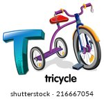 illustration of a letter t for... | Shutterstock .eps vector #216667054