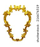 Golden Frame With Ornaments In...