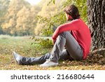 Relaxed Man Sitting On The...