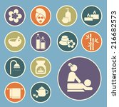 spa icon | Shutterstock .eps vector #216682573
