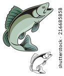 the figure shows  fish | Shutterstock .eps vector #216685858
