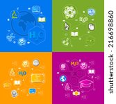 education sticker infographic | Shutterstock .eps vector #216698860