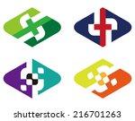 abstract vector diamond logo... | Shutterstock .eps vector #216701263