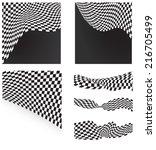 checkered flags set backgrounds ... | Shutterstock .eps vector #216705499