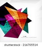 modern 3d glossy overlapping...   Shutterstock . vector #216705514