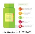 vitamins flat   health symbol   ... | Shutterstock .eps vector #216712489