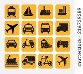 transportation icons vector... | Shutterstock .eps vector #216729289