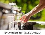 Closeup Photo Of Woman Washing...