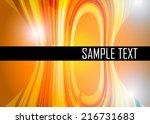 orange abstract background   Shutterstock .eps vector #216731683