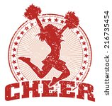cheer design   vintage is an... | Shutterstock . vector #216735454
