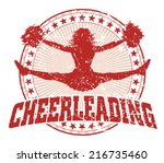 Cheerleading Design   Vintage...